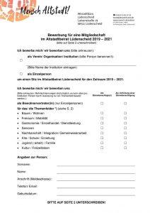 thumbnail of Bewerbungsbogen für eine Mitgliedschaft im Altstadtbeirat